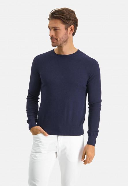 Modern-Classics-pull-en-coton-pima-mélangé---blue-foncé-uni