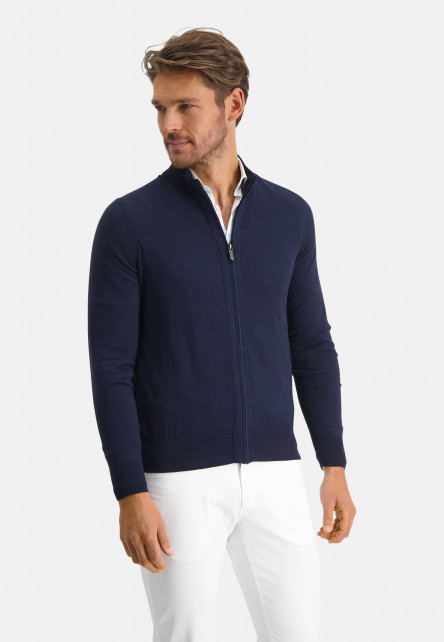 Modern-Classics-cardigan-à-modern-fit---blue-foncé-uni