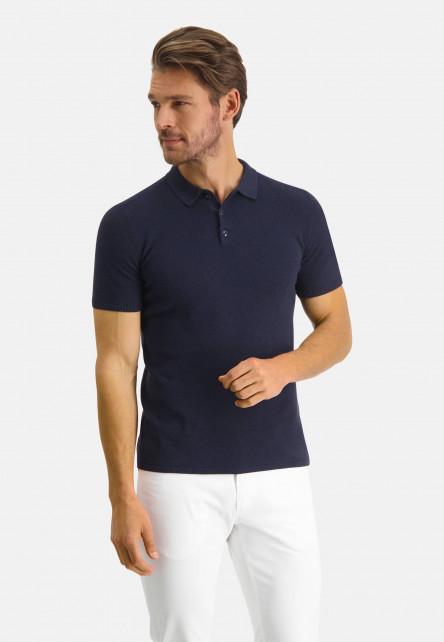 Modern-Classics-polo-en-coton-Pima---blue-foncé-uni
