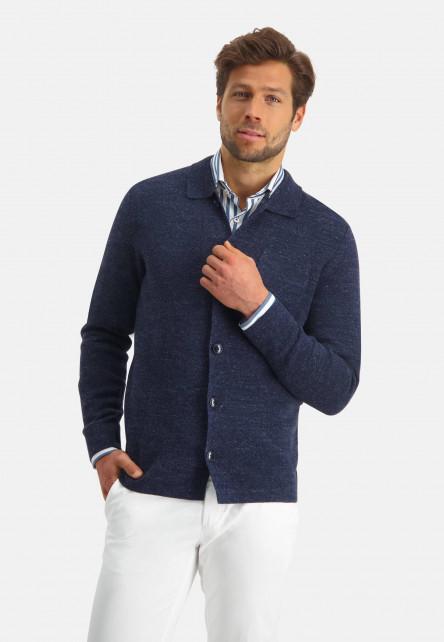 Modern-Classics-gilet-à-poche-poitrine---blue-foncé-uni