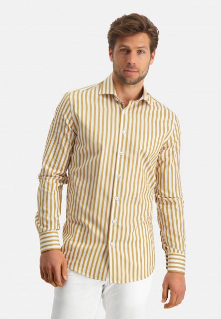 Modern-Classics-chemise-à-rayures---jaune-ocre/blanc