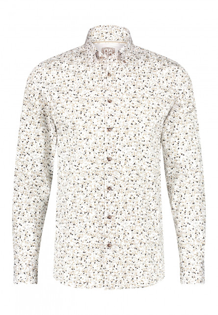 Modern-Classics-chemise-à-imprimé-all-over---sablé/brun-foncé