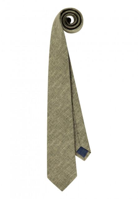 Cravate-en-coton,-Passant-et-doublure---/chlorophylle-uni