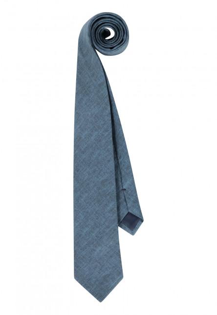 Cravate-en-coton,-Passant-et-doublure---cobalt-uni
