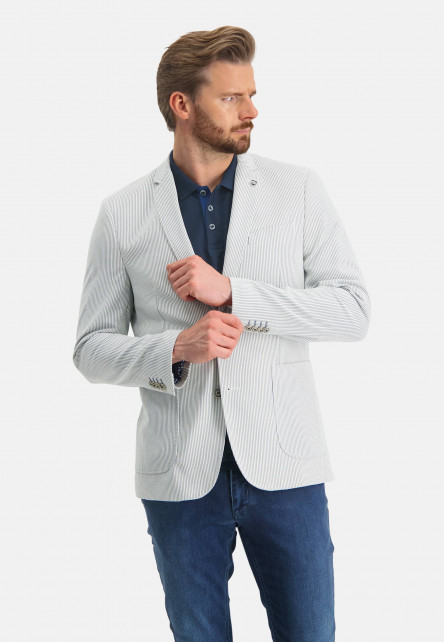 Blazer-à-rayures-et-modern-fit---blanc/cobalt
