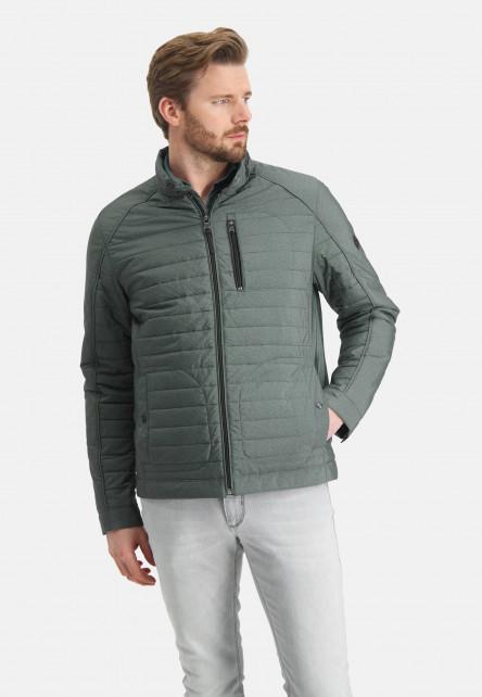 Manteau-court-à-imprimé---/chlorophylle-uni