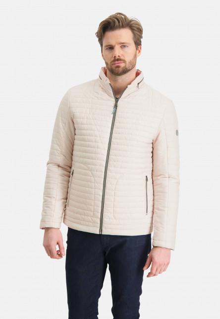 Manteau-doublé-à-regular-fit---grège-uni