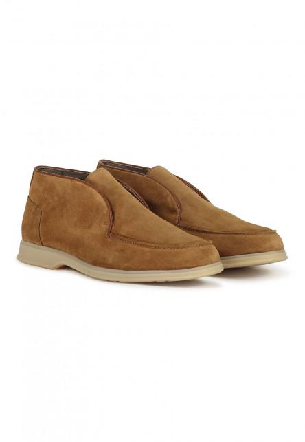 Chaussures-bateau-en-cuir-velours-et-cuir