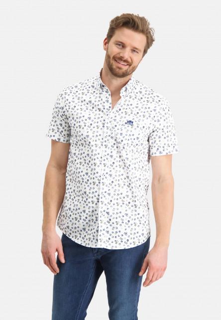 Chemise-à-imprimé-et-manches-courtes