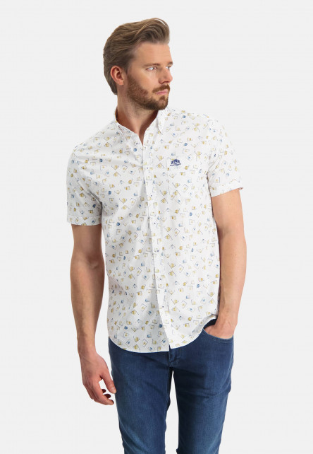 Regular-fit-overhemd-van-katoen-stretch