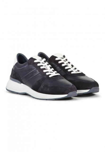 Sneakers-en-cuir-velours-et-cuir