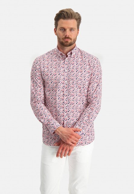 Chemise-en-coton-à-imprimé
