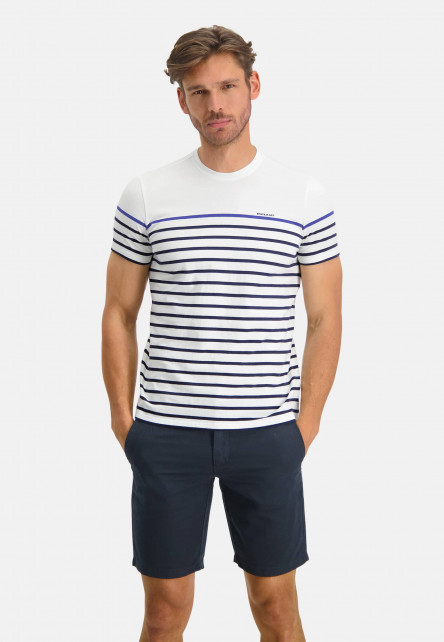 T-shirt-à-encolure-ronde-et-à-rayures