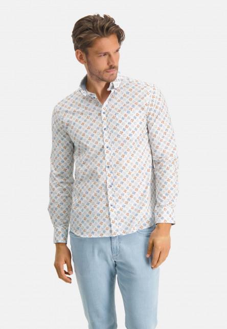Chemise-en-stretch-coton-à-imprimé