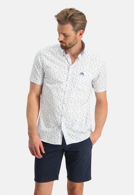 Chemise-en-coton-stretch-à-imprimé