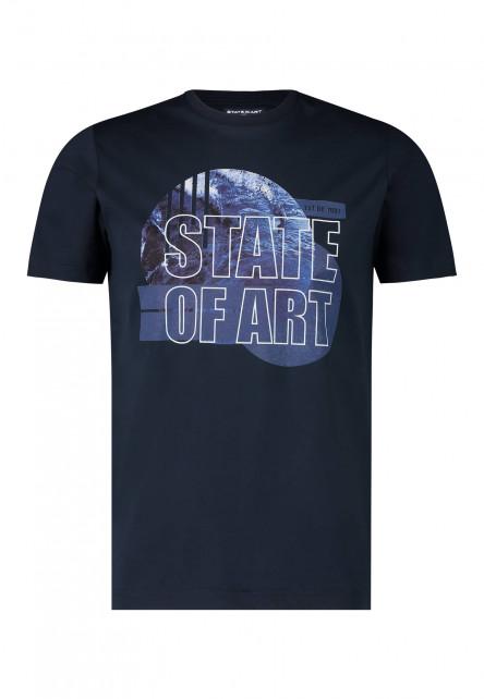 T-shirt-mercerisé-à-encolure-ronde