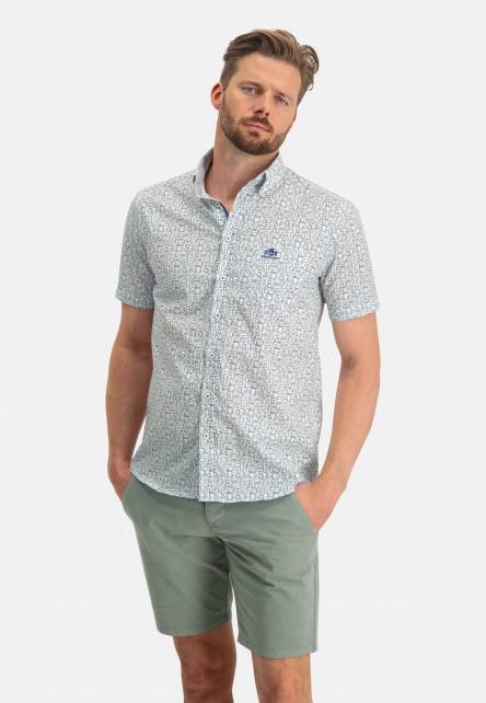 Chemise-à-col-boutonné-et-imprimé