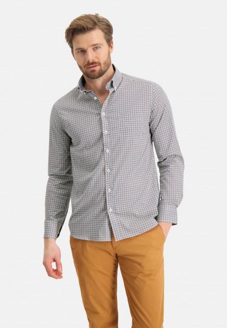 Chemise-en-coton-à-stretch
