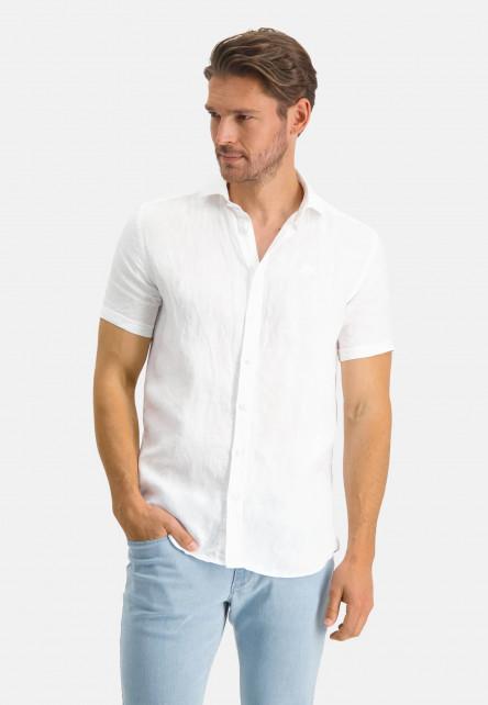 Chemise-en-lin-à-manches-courtes