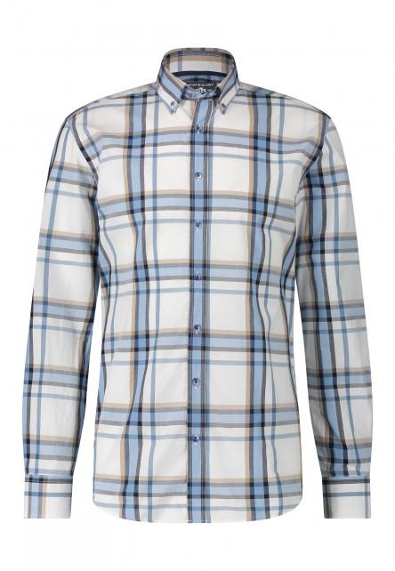 Chemise-en-coton-à-carreaux