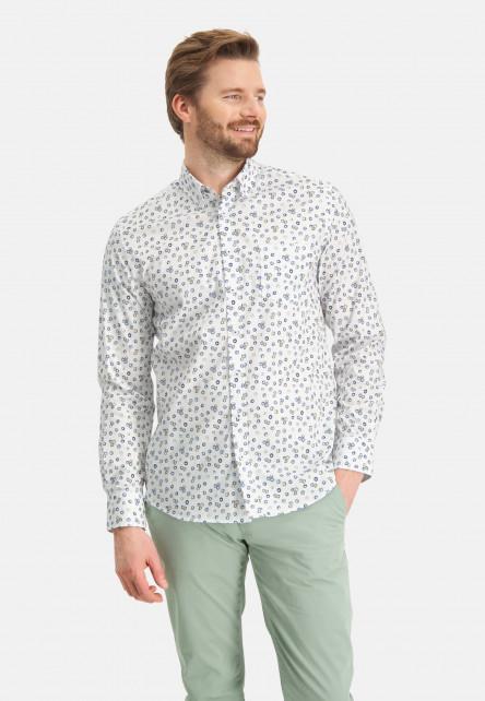 Chemise-à-imprimé-et-poche-poitrine