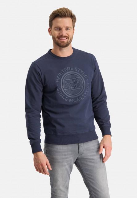 Sweat-shirt-à-encolure-ronde