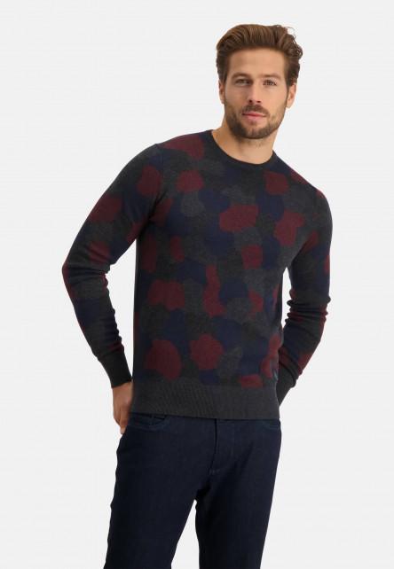 Pull-tricot-fin-à-encolure-ronde