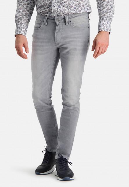 Jean-stretch-à-modern-fit---gris-moyen-uni