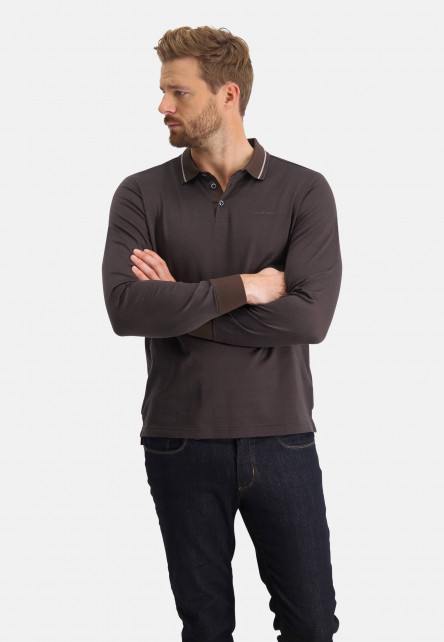 Polo-jersey-contrastant-col