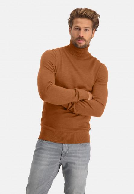 Pull-à-col-roulé-en-laine-mélangé