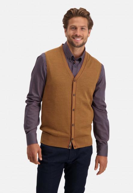 Gilet-tricoté-uni