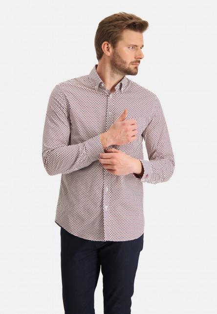 Chemise-à-imprimé-à-impression-de-points