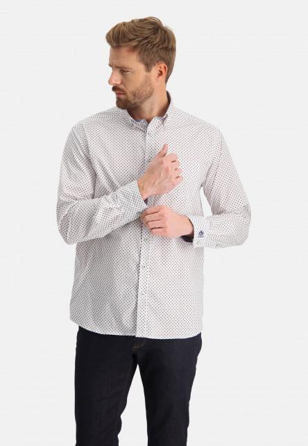 Chemise-à-imprimé-avec-couple-classique