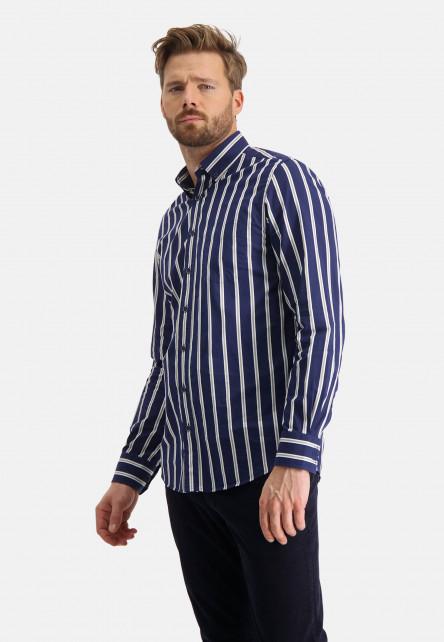 Chemise-en-coton-à-rayures