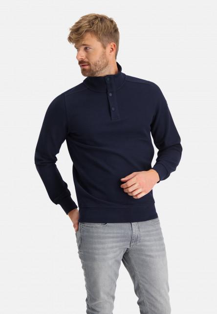 Sweat-shirt-à-col-zippé