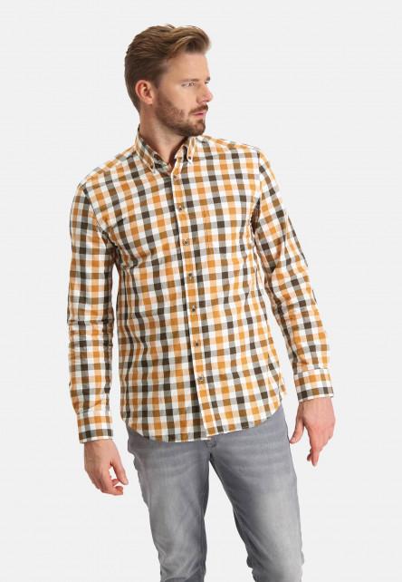 Chemise-à-carreaux-à-manches-longues