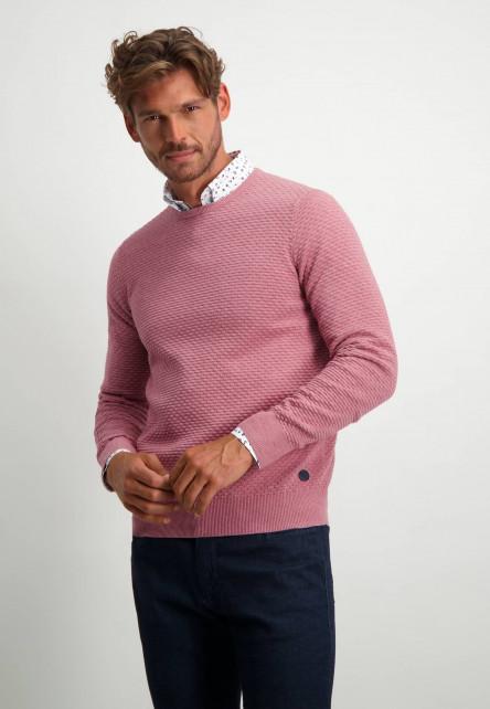R-hals-trui-van-100%-katoen---oud-roze-uni