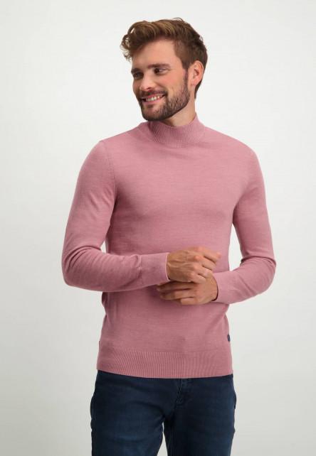 Trui-met-turtleneck-en-regular-fit---oud-roze-uni