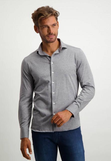 Overhemd-van-100%-katoen---middengrijs-uni