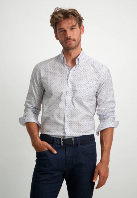 Button-down-overhemd-van-biologisch-katoen---oud-roze/sepia