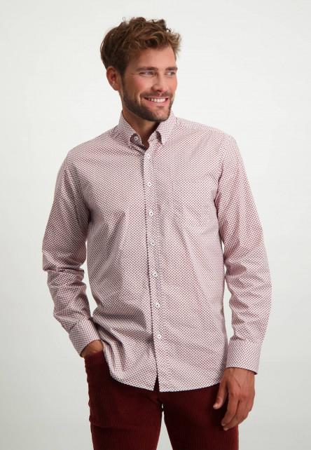 Overhemd-van-organisch-katoen---brique/wit