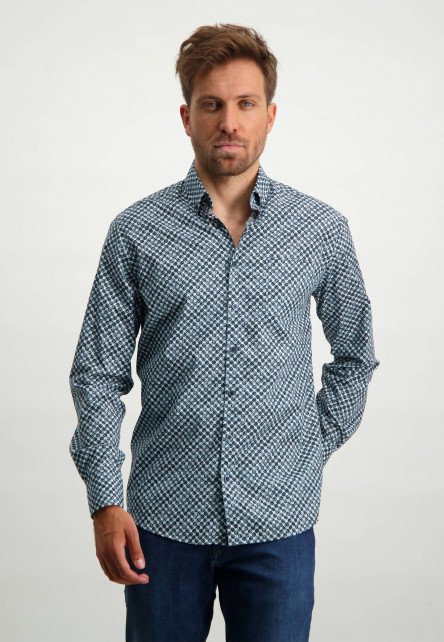 Chemise-à-imprimé---blue-foncé/bleu-claire