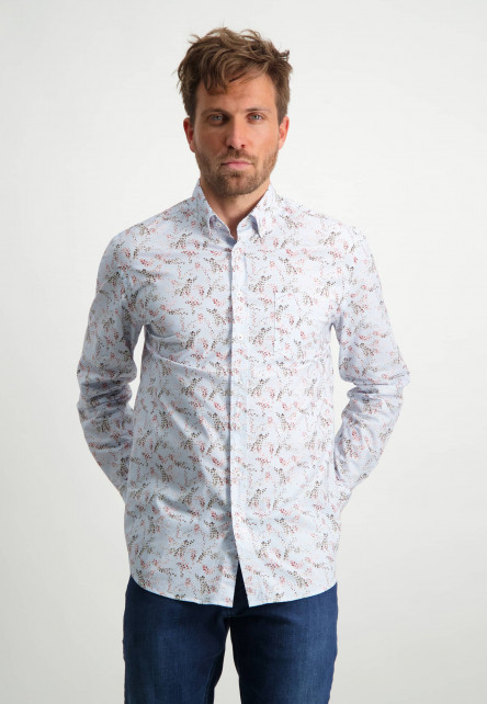 Biologisch-katoenen-overhemd-met-button-down---oud-roze/sepia