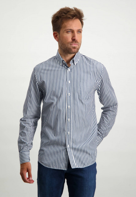 Chemise-à-rayures---cobalt/blanc