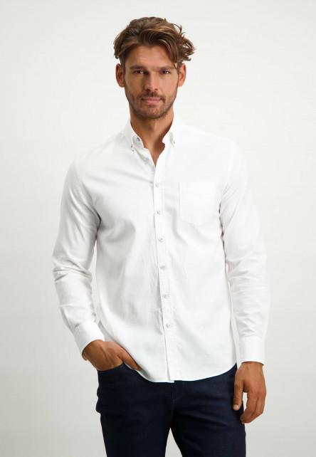 Oxford-overhemd-van-stretch-katoen---wit-uni