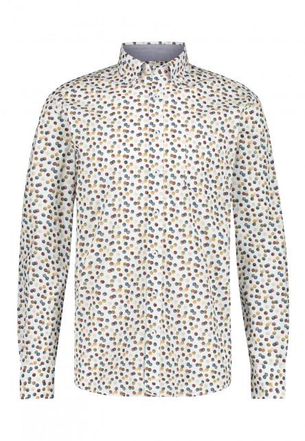 Poplin-overhemd-van-biologisch-katoen---brique/mango
