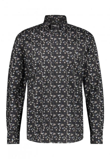 Chemise-à-imprimé---gris-argenté/anthracite