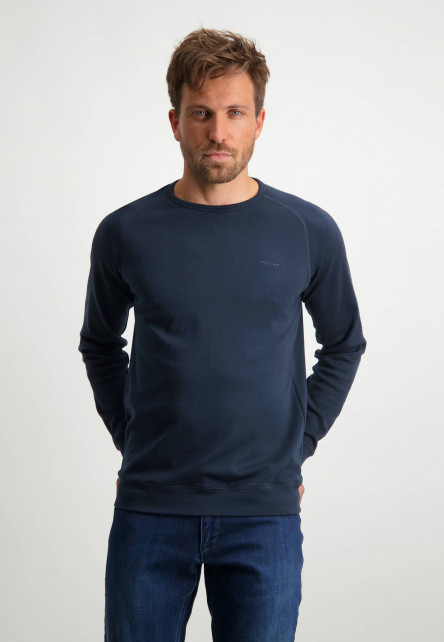 Sweatshirt-van-Pima-katoen---donkerblauw-uni
