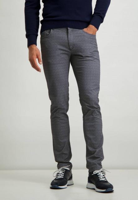 Stretchbroek-met-digitale-print---zilvergrijs/donkerblauw