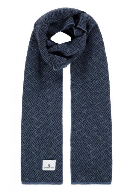 Sjaal-van-een-lamswol-mix---kobalt/donkerblauw